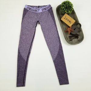 Gymshark Flex heather purple full length leggings